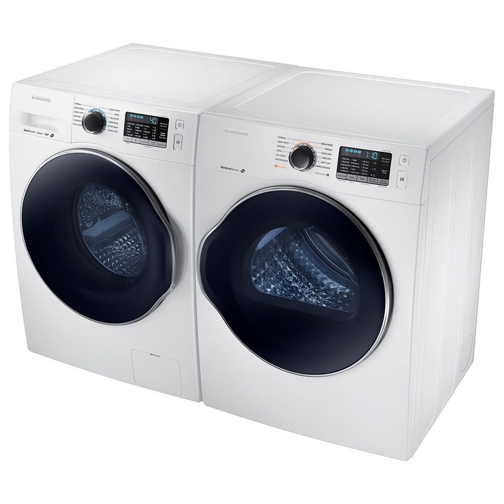 Samsung 2.2 Cu. Ft. Front Load Washer and 4.0 Cu. Ft. Electric Dryer Laundry Pair in White, , large