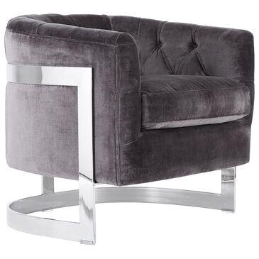 Safavieh Zealand Velvet Chair in Bella Shale Grey , , large