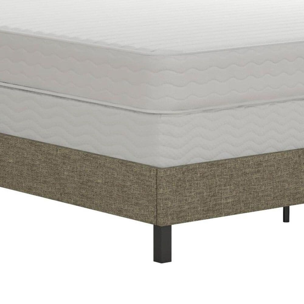 DHP Jessie Queen Upholstered Panel Bed in Tan, , large
