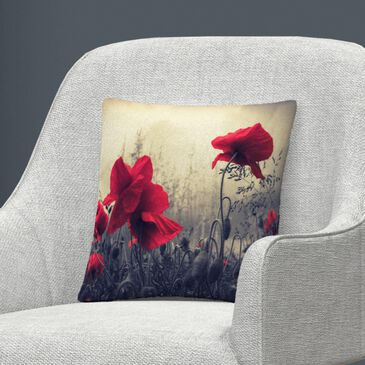 Timberlake Philippe Sainte-Laudy 'Red For Love' 16 x 16 Decorative Throw Pillow, , large