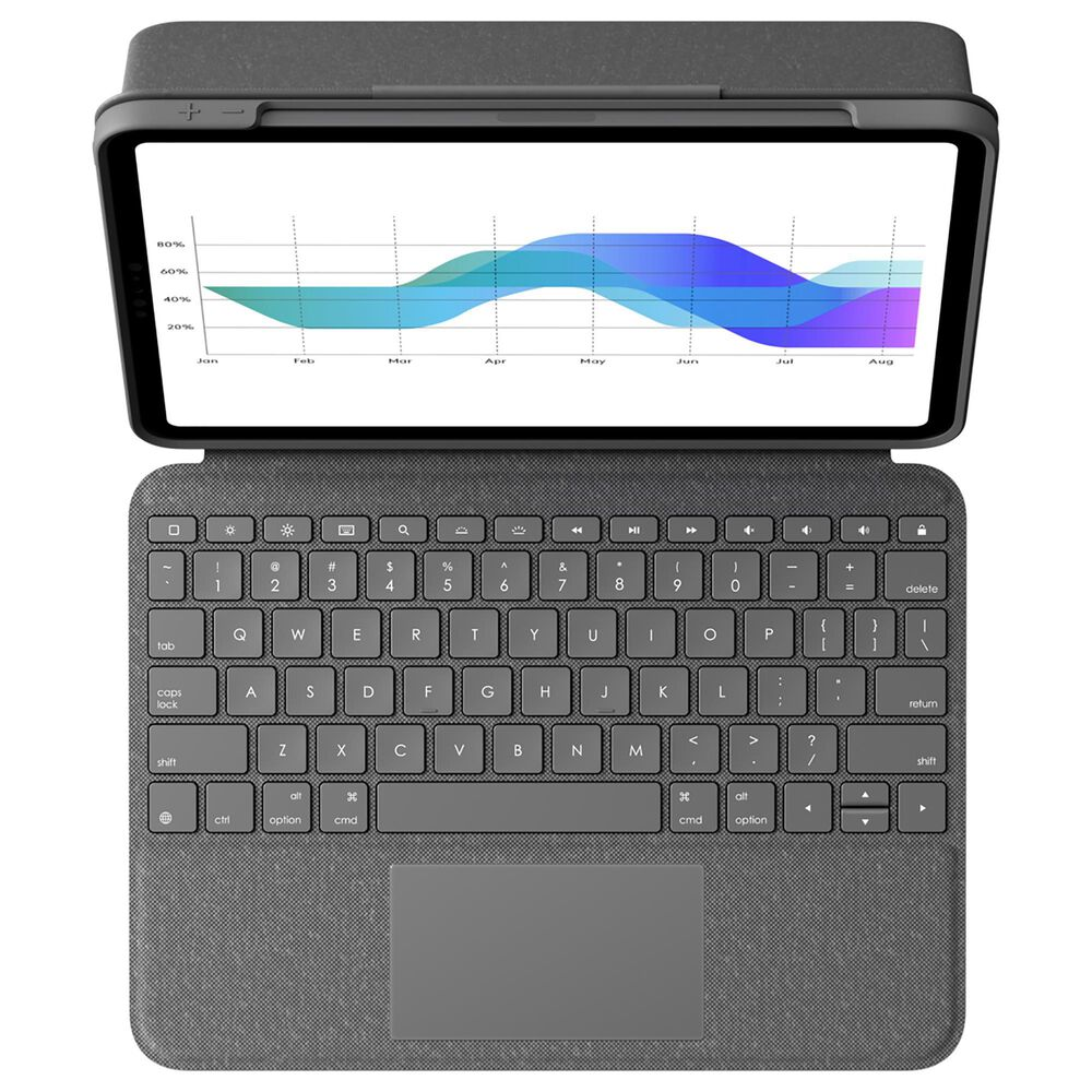 Logitech Folio Touch Backlit Keyboard Case with Trackpad for iPad Pro 11 in Graphite, , large