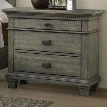 Mayberry Hill Crawford 3-Drawer Nightstand with USB in Rustic Grey Oak, , large