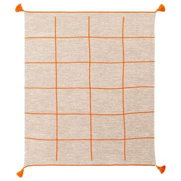 "Surya Inc Fleck 50"" x 70"" Throw in Orange and Camel, , large"