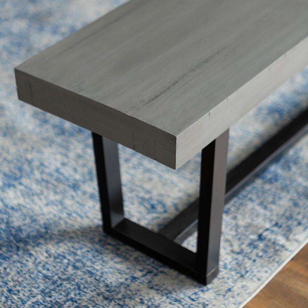 "Walker Edison 60"" Dining Bench in Grey, , large"