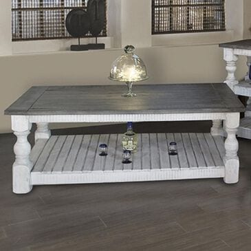 Fallridge Stone Cocktail Table in Off White and Gray, , large