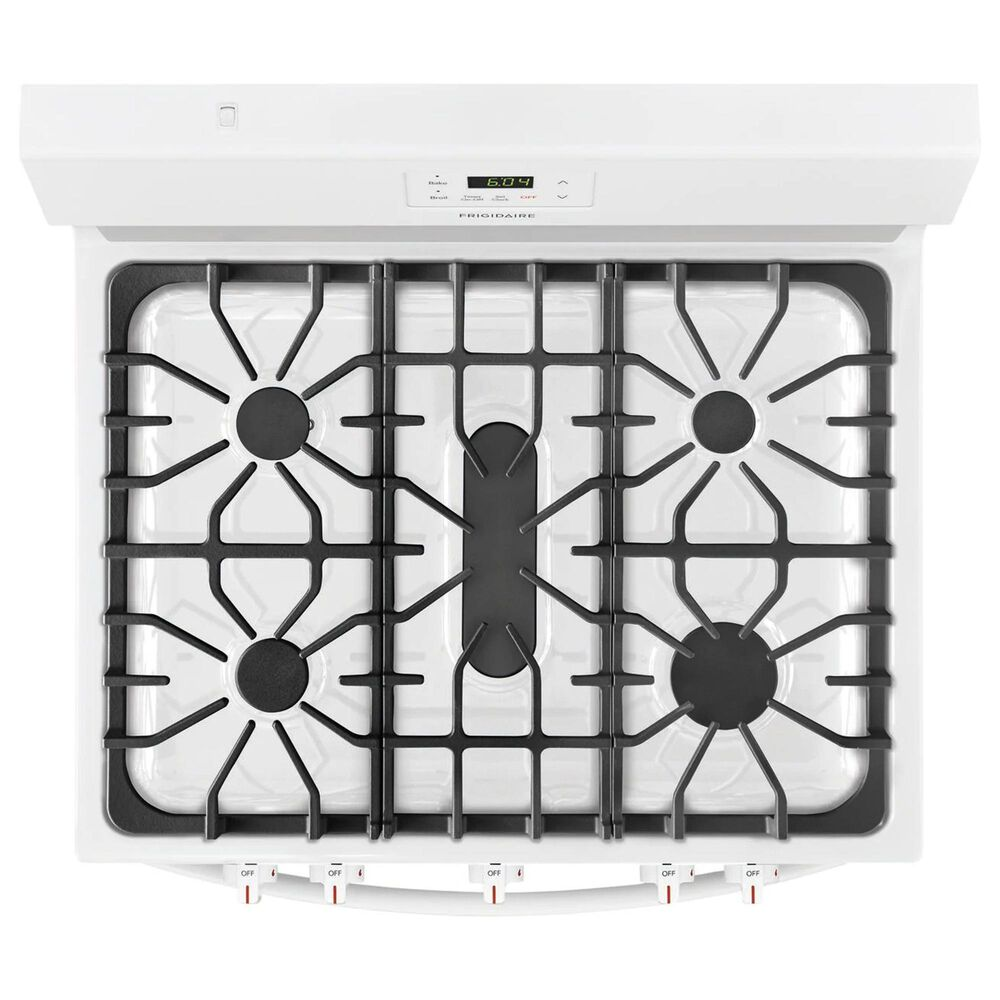 Frigidaire 30'' 5 Oval Burners Gas Range in White, , large