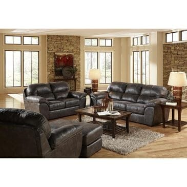 Hartsfield Grant Bonded Leather Sofa and Loveseat in Steel, , large