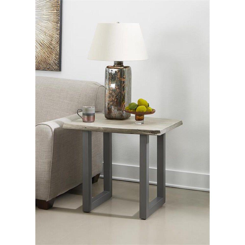 Shell Island Furniture Yukon End Table in Sandblast Grey and Gunmetal, , large