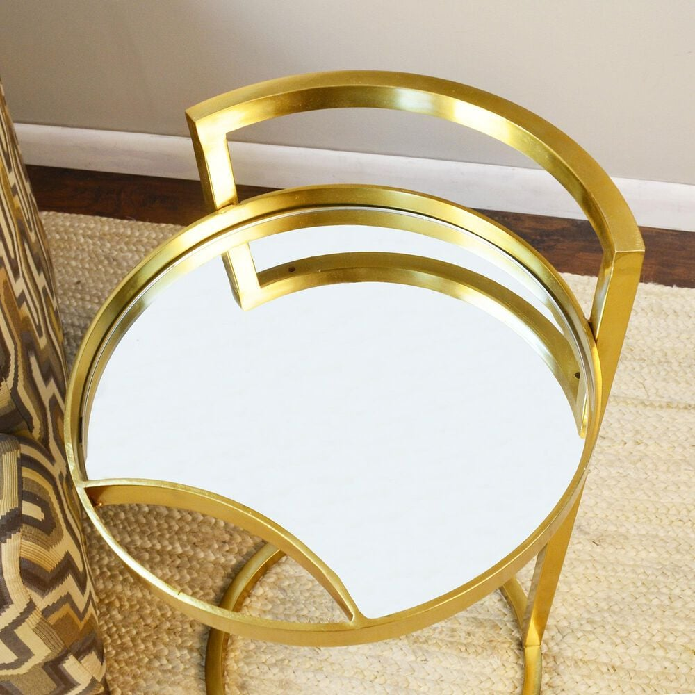 Carolina Chair and Table Watson Accent Table in Antique Gold, , large