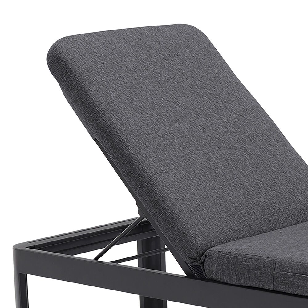 Blue River Portals Patio Lounge Chair in Gray/Black, , large