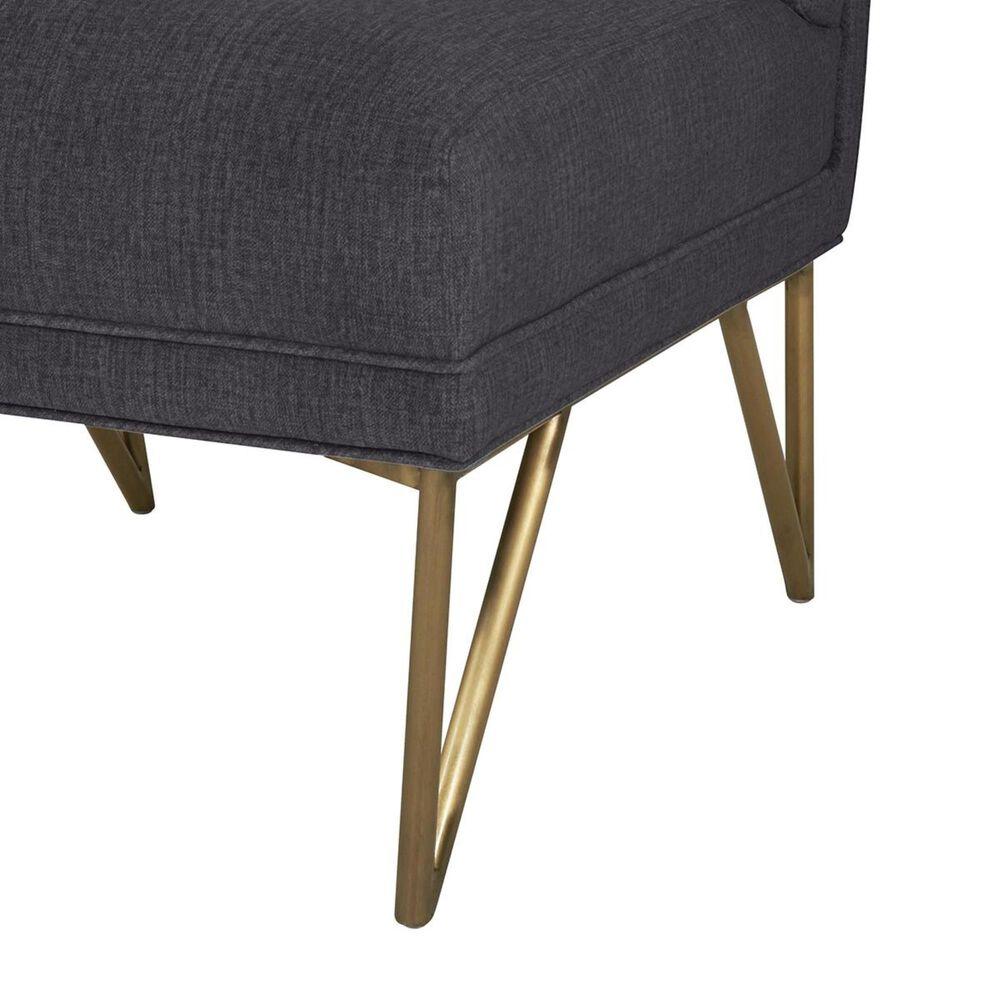 Tov Furniture Kelly Velvet Chair in Grey, , large