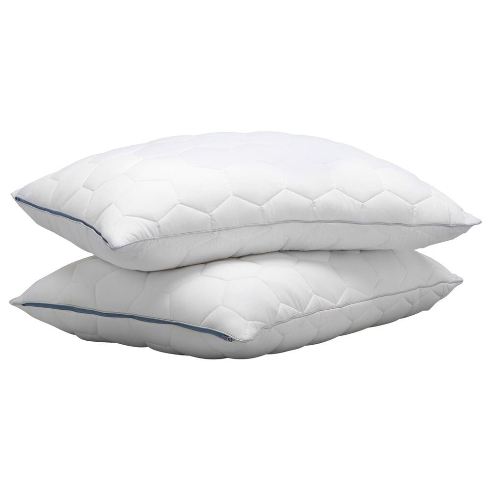 SHEEX Ven-Tech King Stomach and Back Sleeper Pillow in Bright White, , large