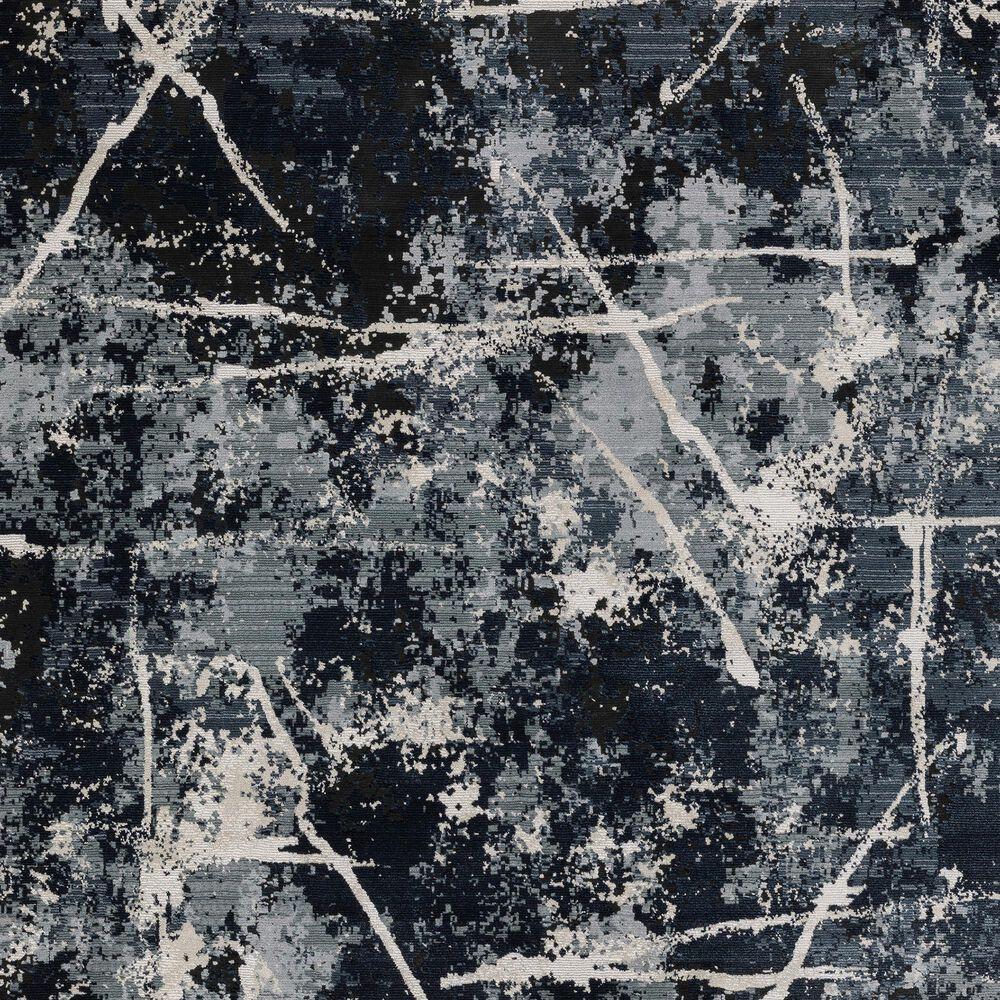 """Oriental Weavers Caravan Dark Skies 2'3"""" x 7'6"""" Blue Runner, , large"""