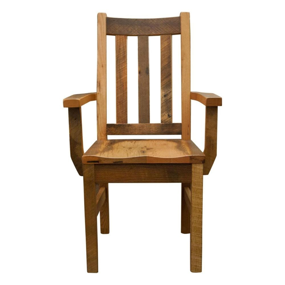 Daniel's Amish Collection Silver Lake Arm Chair in Barnwood Oak, , large