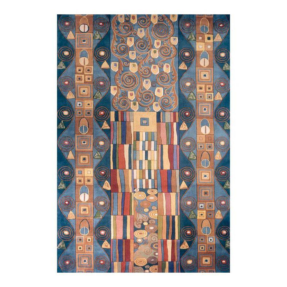 Momeni New Wave NW-002 8' x 11' Ziggy Blue Area Rug, , large