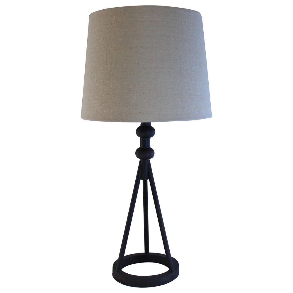 """TLC 25"""" Table Lamp in Black, , large"""