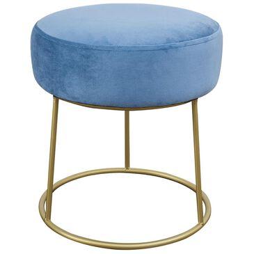 Tov Furniture Nina Velvet Stool in Blue, , large