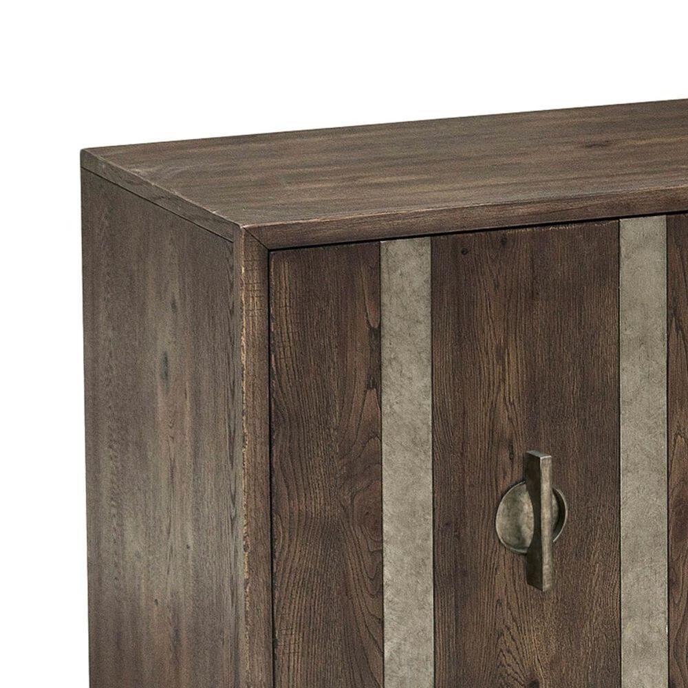 Accentric Approach Modern Authentics Metal Strap 3-Door Console in Dark Oak, , large