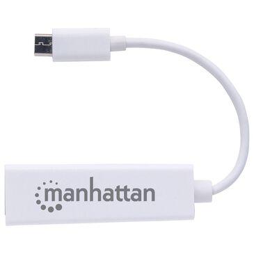 Manhattan USB 3.1 Gen 1 Type-C to Gigabit Network Adapter in White, , large