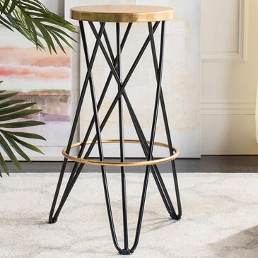 Safavieh Lorna Bar Stool in Black and Gold, , large