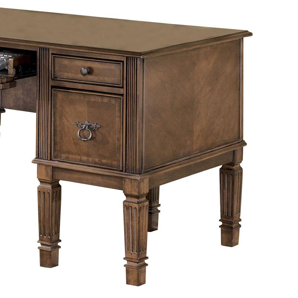 Signature Design by Ashley Hamlyn Storage Leg Desk in Medium Brown, , large