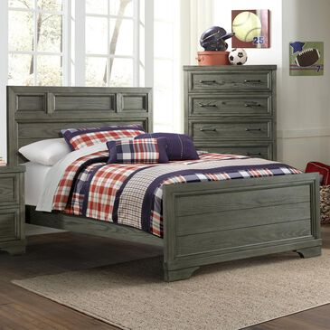 Eastern Shore Foundry Full Panel Bed in Brushed Pewter, , large