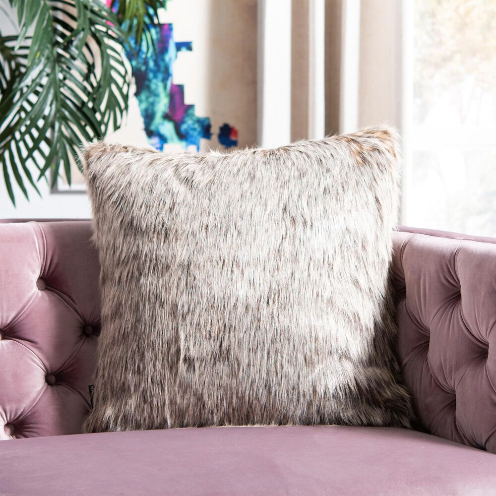 "Safavieh Dusty Fur 20"" Pillow in Gray, , large"