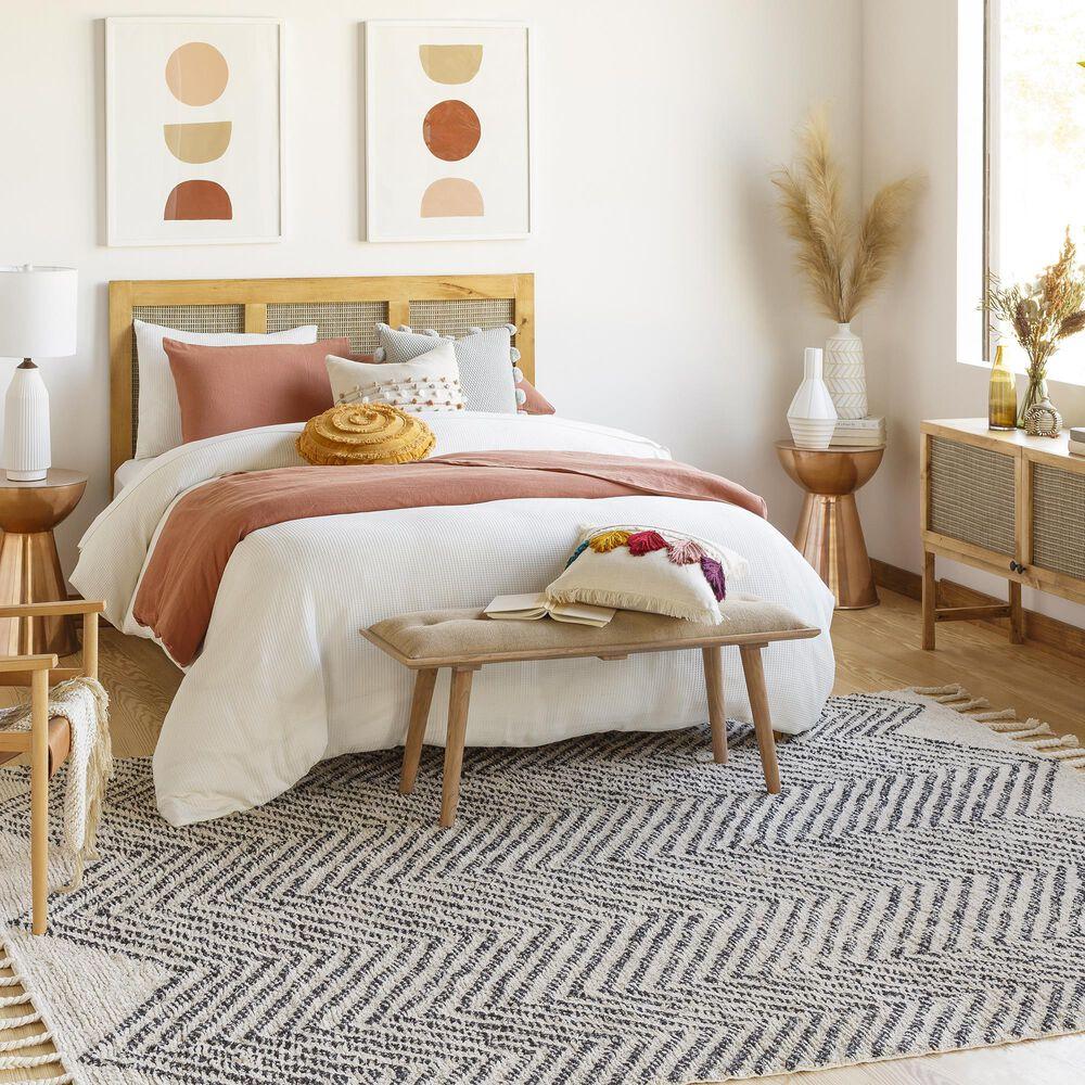 Surya Carpet, Inc. Khemisset 8' x 10' Charcoal and Cream Area Rug, , large