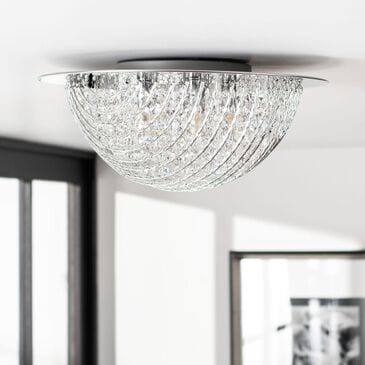 Safavieh Galea Flush Mount in Silver/Clear, , large