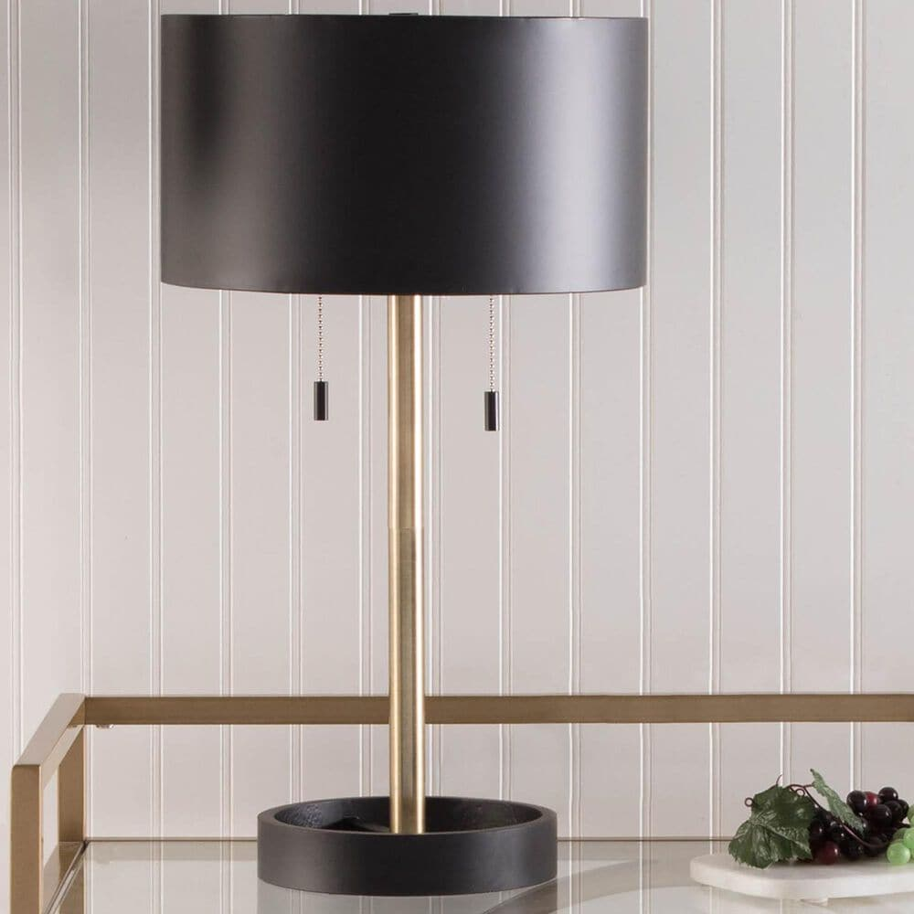 Lumisource Hilton Table Lamp in Black/Gold, , large