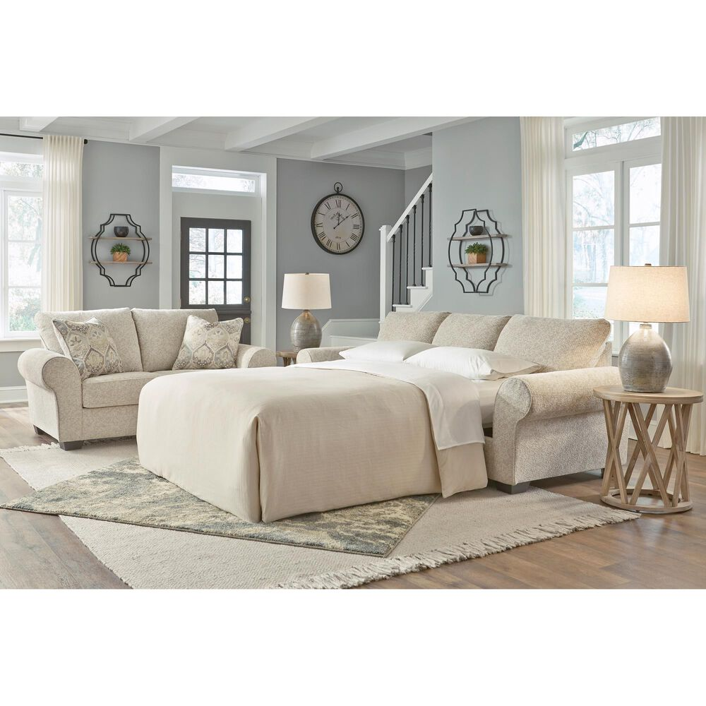 Signature Design by Ashley Haisley Stationary Queen Sofa Sleeper in Ivory, , large