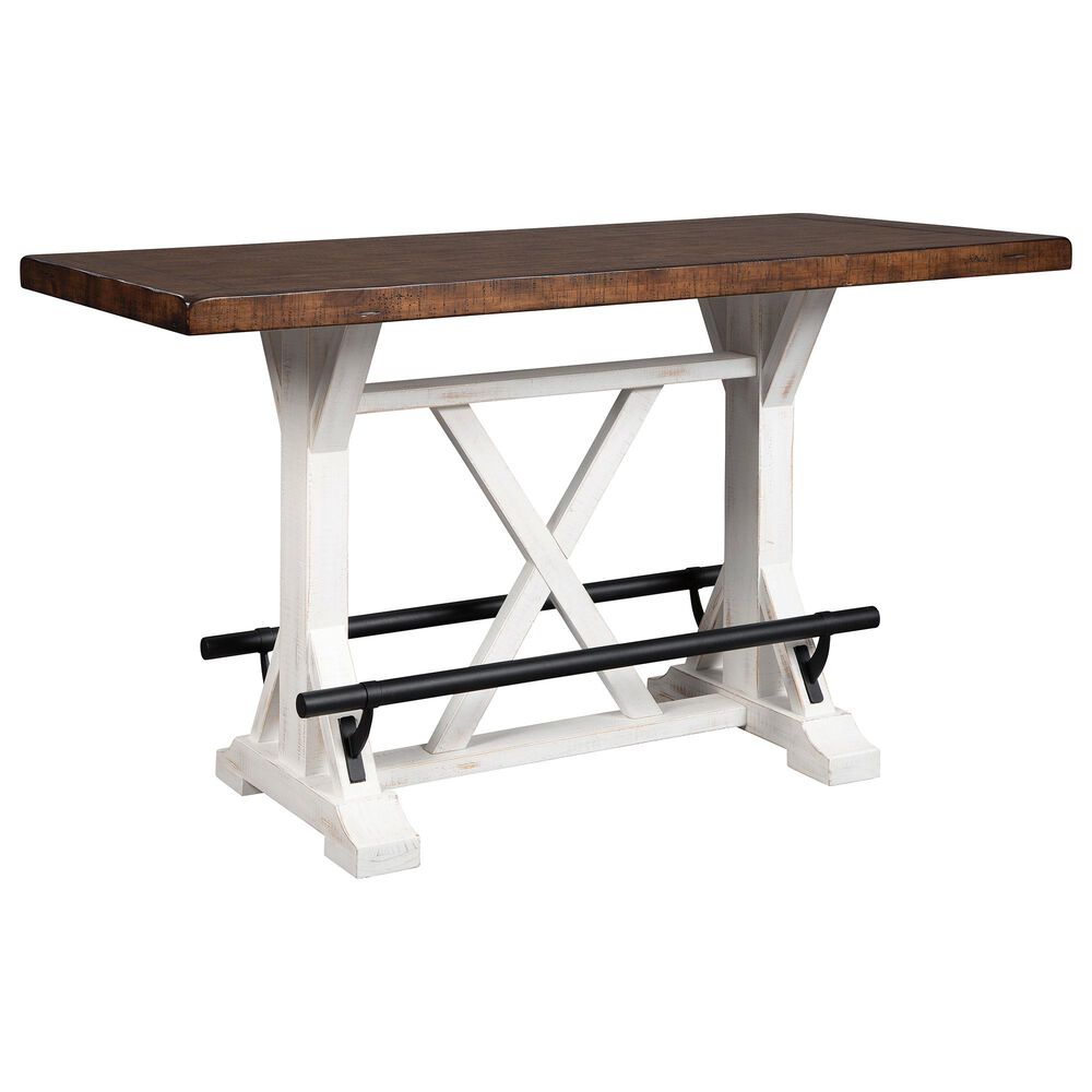Signature Design by Ashley Valebeck Counter Dining Room Table in Black, White and Brown, , large