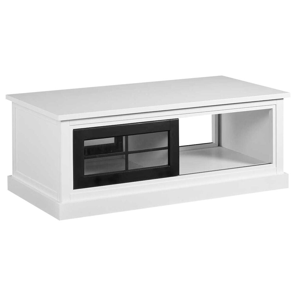Tiddal Home Habitat Coffee Table in Snow and Black, , large