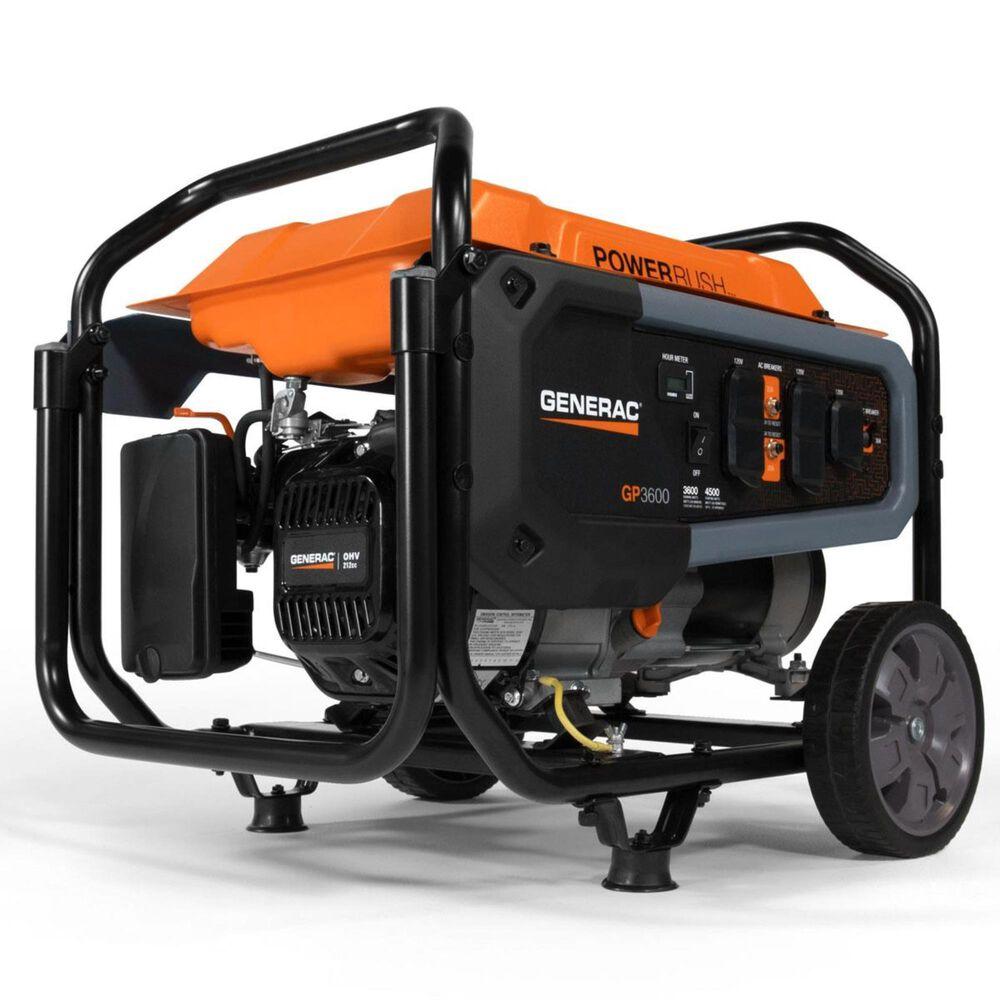 Generac GP3600 49ST/CSA Portable Generator + 1 1/4 Gallon No Spill Gas Can, , large