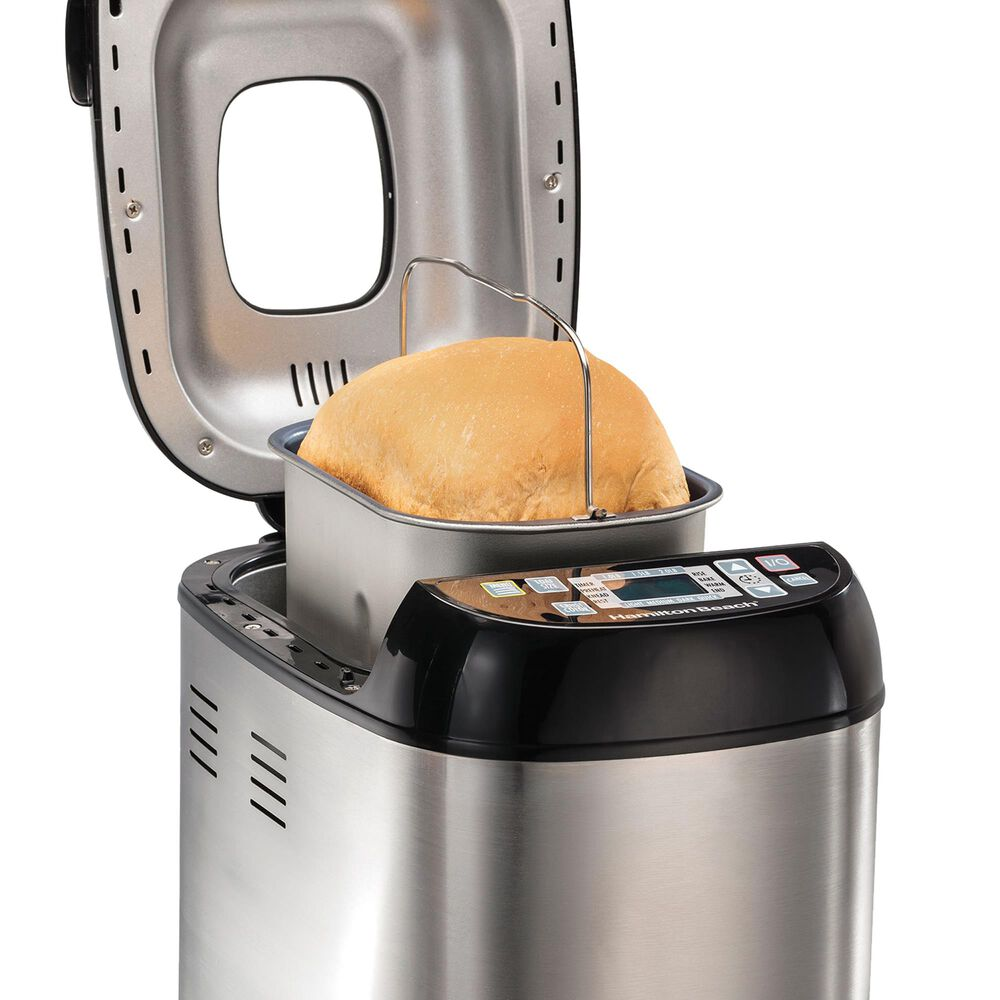 Hamilton Beach Artisan and Gluten-Free Bread Maker in Stainless Steel, , large