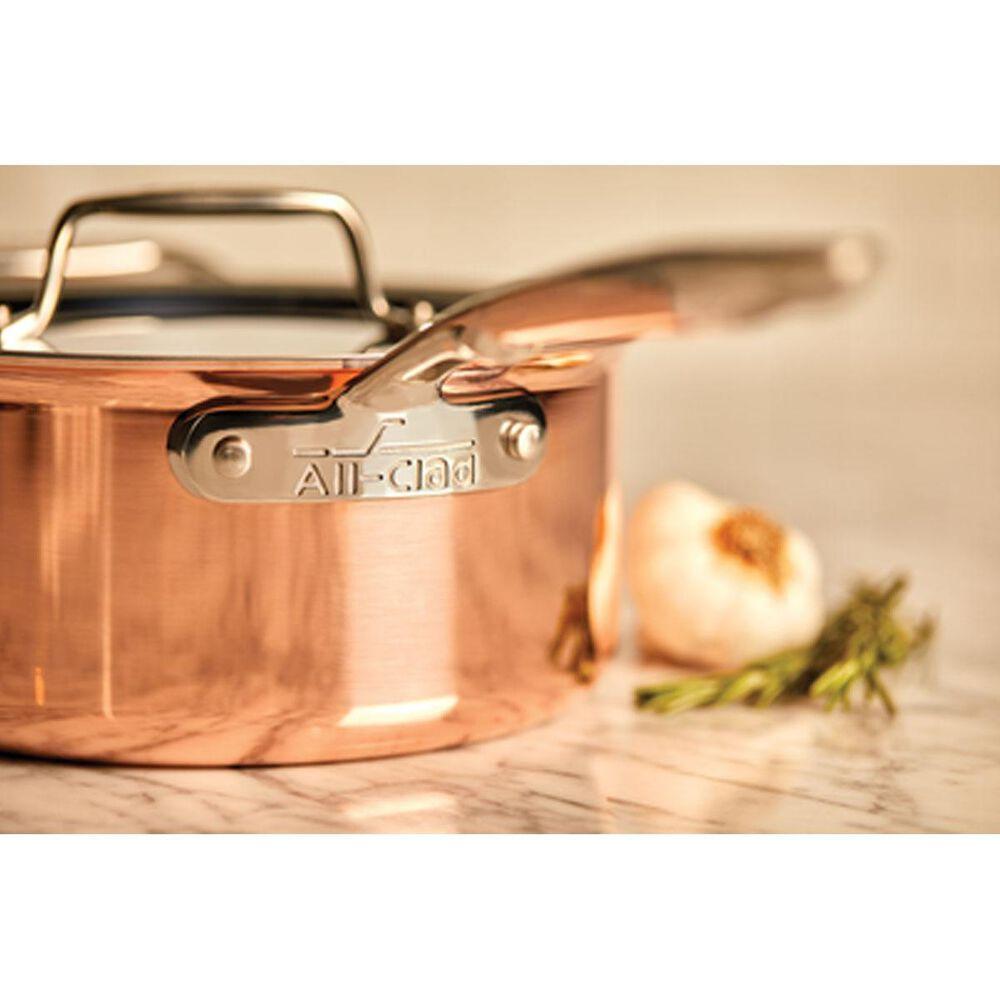 All-Clad c4 Copper 3-QT Sauce Pan, , large
