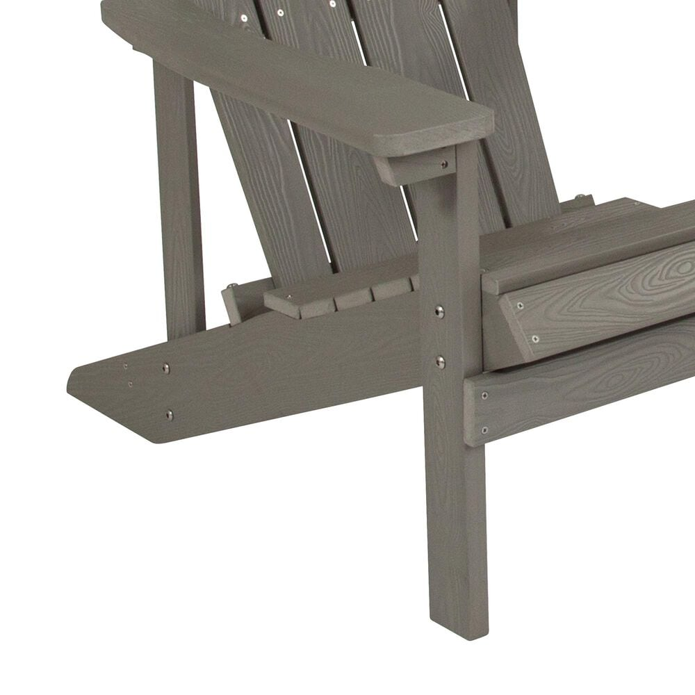Flash Furniture Charlestown Adirondack Chair in Light Gray, , large