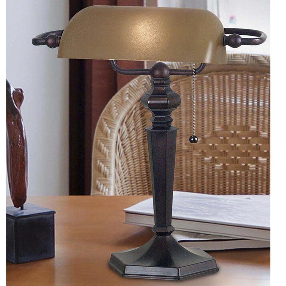 Kenroy Chesapeake Banker Lamp in Bronze, , large