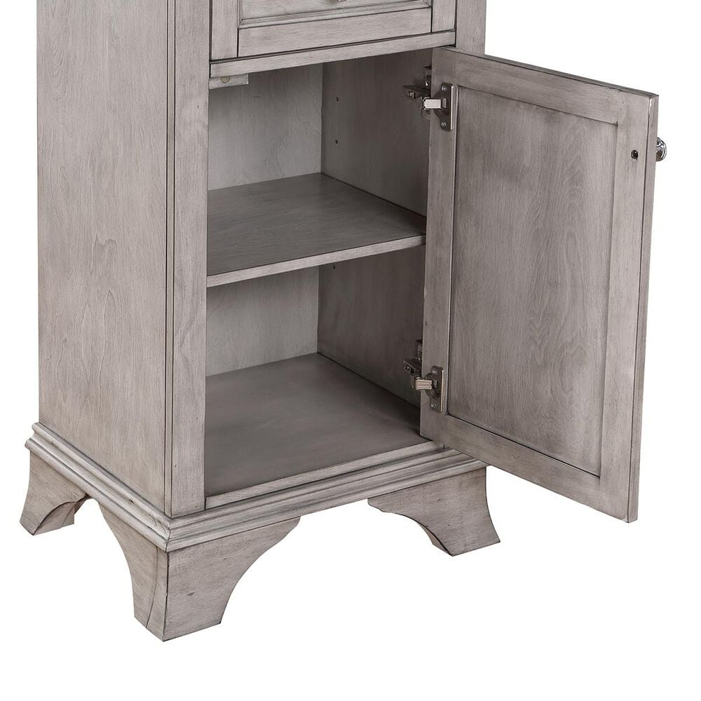 Aurafina Wainwright Free Standing Linen Closet in Old Harbor Gray, , large