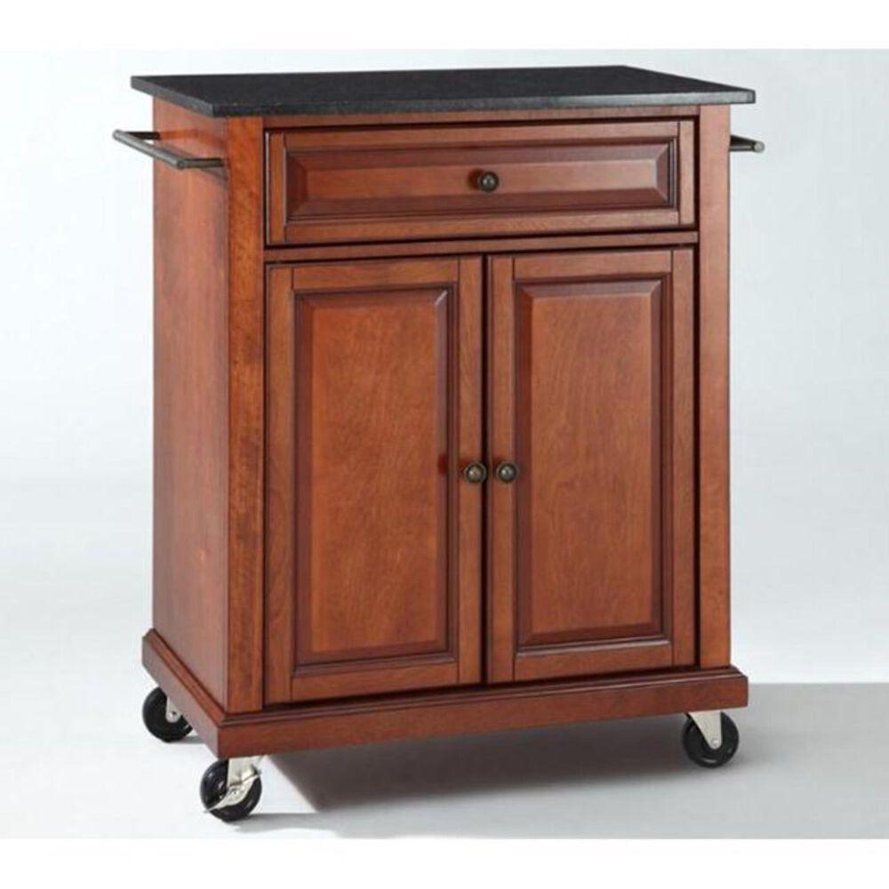Crosley Furniture Granite Top Portable Kitchen Cart in Cherry, , large