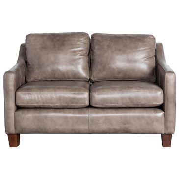 Vintage Leather Hulu Leather Loveseat in Fellside Gray, , large