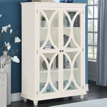Accentric Approach 3-Shellf Bookcase in White, , large