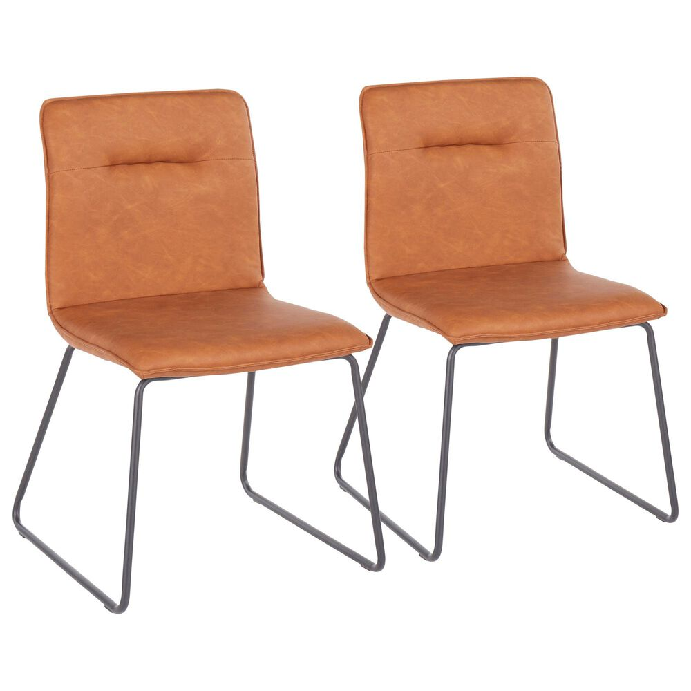 Lumisource Casper Dining Chair in Camel/Black (Set of 2), , large