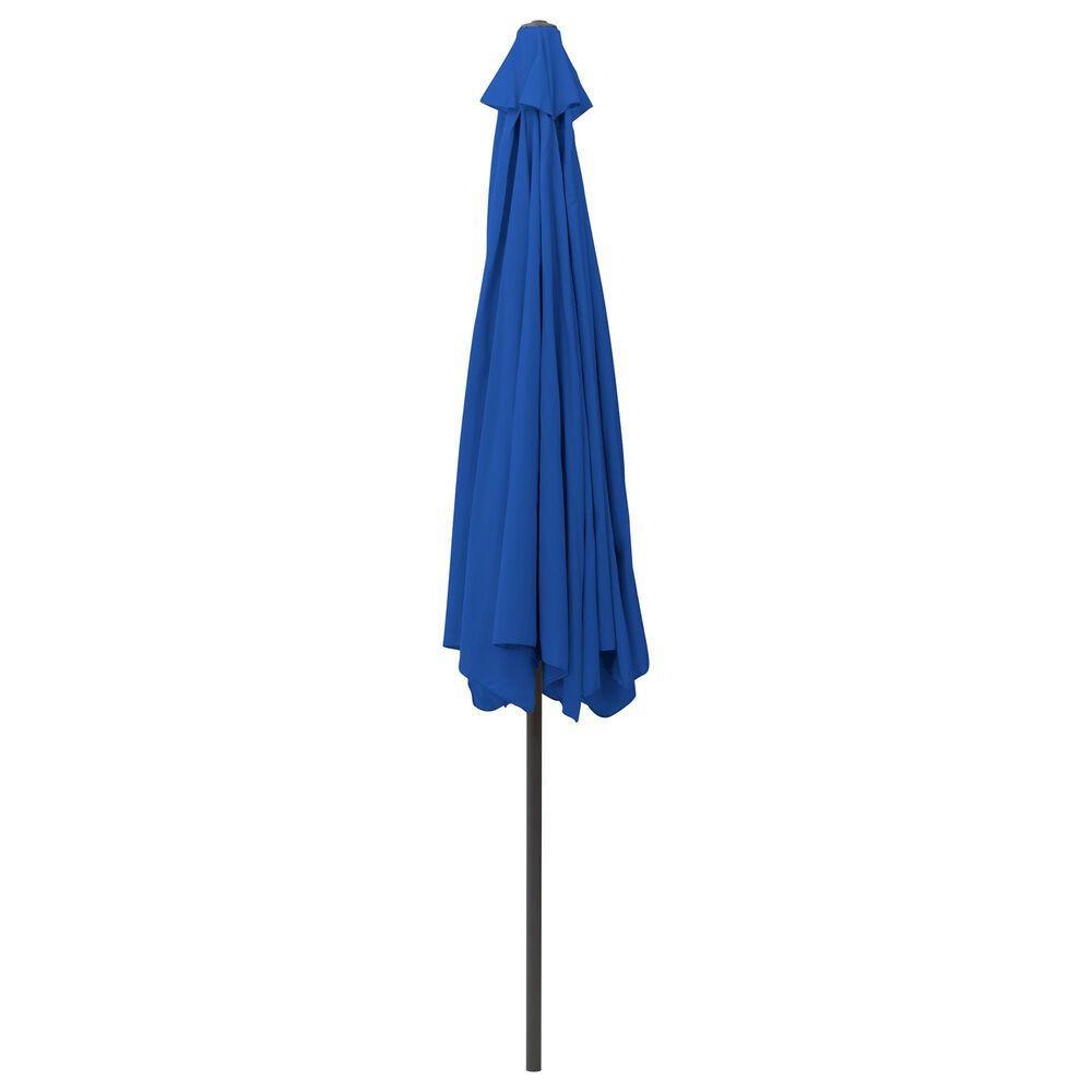 CorLiving 10' Round Tilting Patio Umbrella in Cobalt Blue, , large