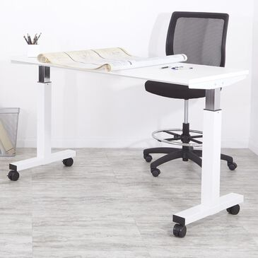 OSP Home Adjustable Table in White, , large