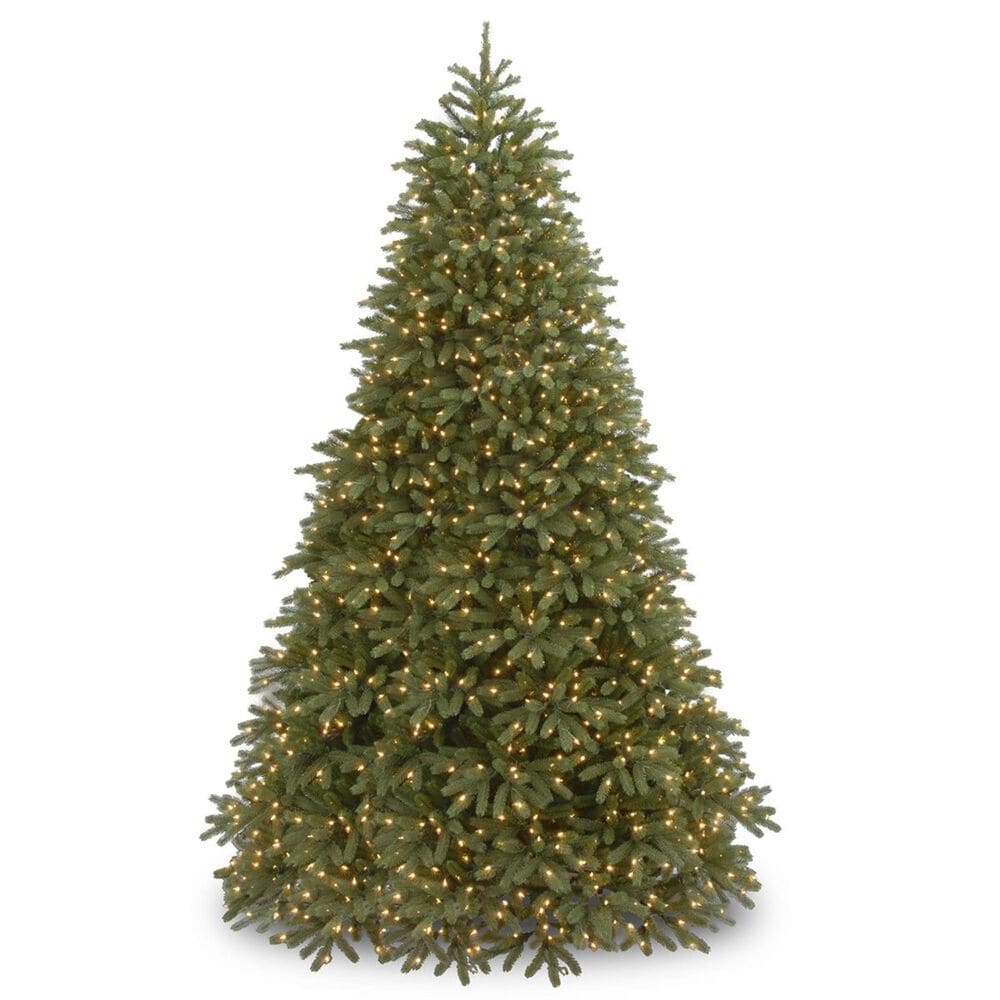 """National Tree 9"""" Feel Real Fir Tree with 1500 Dual Color LED Lights, , large"""