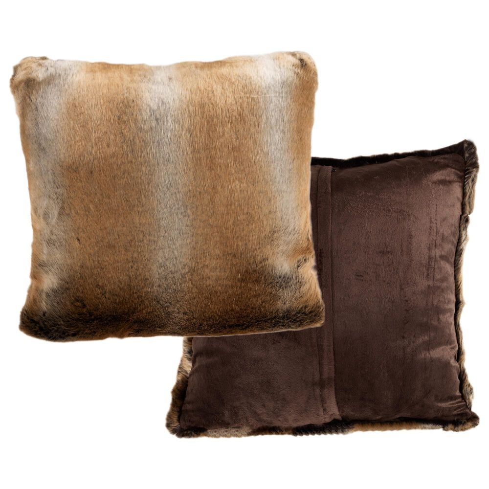 """Timberlake Hastings Home 18"""" Pillow in Brown (Set of 2), , large"""