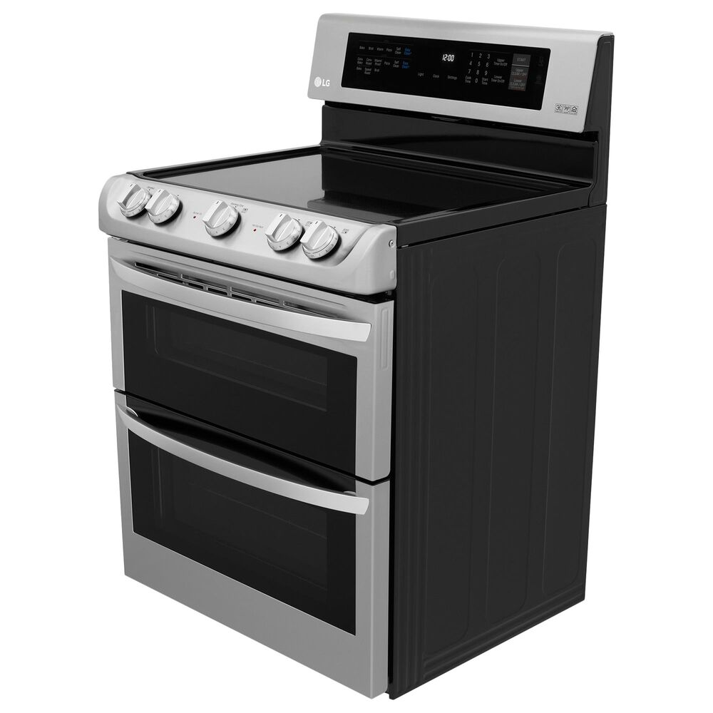 LG 2-Piece Kitchen Package with 7.3 Cu. Ft. Electric Range and 2.2 Cu. Ft. Microwave in Stainless Steel, , large