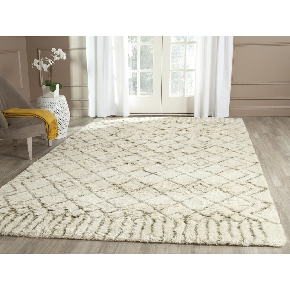 Safavieh Casablanca CSB894A 3' x 5' Ivory and Green Area Rug, , large
