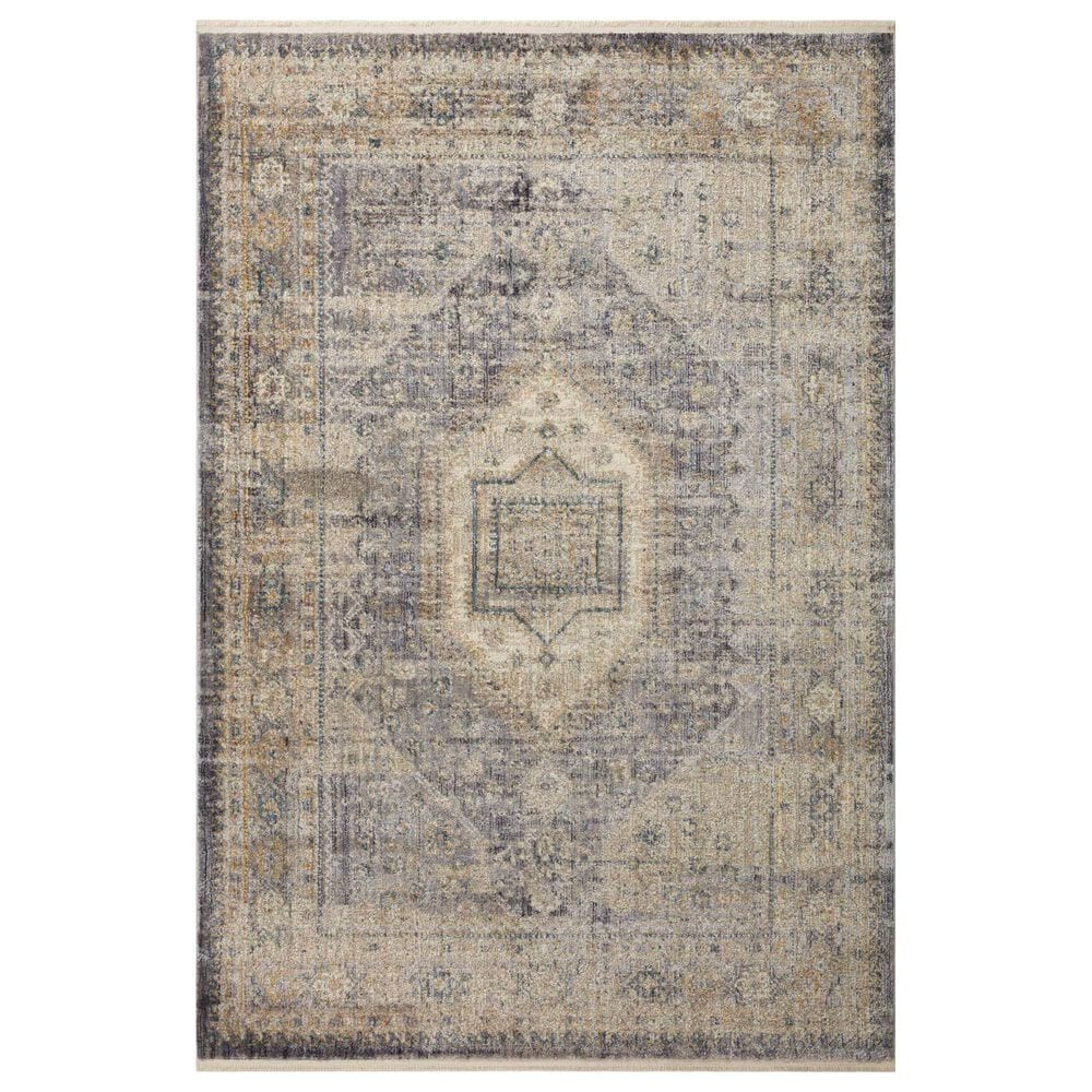 """Magnolia Home Janey JAY-02 2'7"""" x 7'12"""" Slate and Gold Runner, , large"""